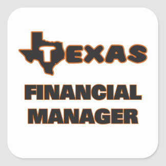 Texas Financial Manager Square Sticker
