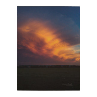 """""""Texas Fire Storms"""" Wood Wall Decor"""