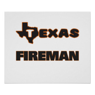 Texas Fireman Poster