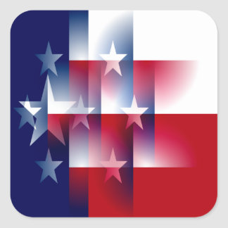 Texas Flag Abstract Square Sticker