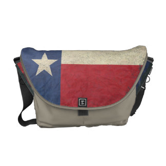 Texas Flag Aged Messenger Bags