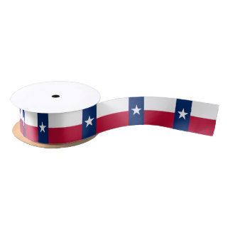 Texas flag, American state flag ribbon Satin Ribbon