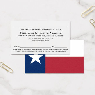 Texas Flag Appointment Card