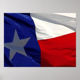 Texas Flag Artwork Poster - American States Prints