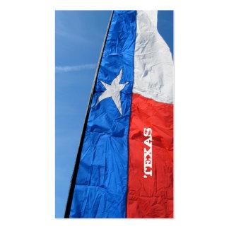 Texas Flag Business Card Tall Banner