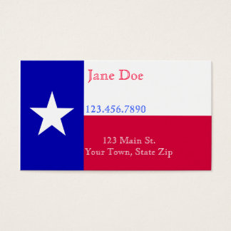 Texas Flag Business Cards