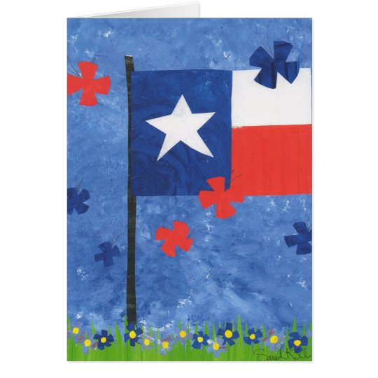 Texas Flag Card