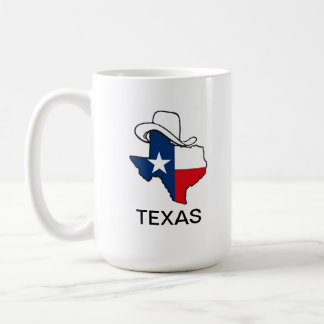 Texas flag coffee cup basic white mug