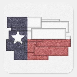 TEXAS FLAG COLLAGE STICKER