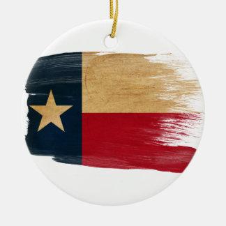 Texas Flag Round Ceramic Decoration