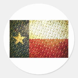 Texas Flag Diamond plated gear Sticker