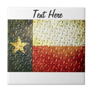 Texas Flag Diamond plated gear Tile