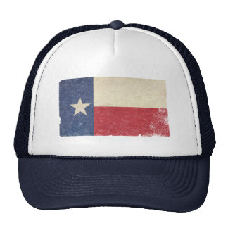 Texas Flag, Distressed Trucker Hats