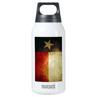 Texas Flag Firework Insulated Water Bottle