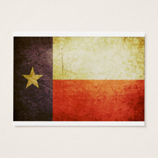 Texas Flag Grunge effect Business Card