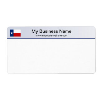 Texas Flag Header Shipping Label