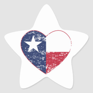 Texas Flag Heart Distressed Stickers