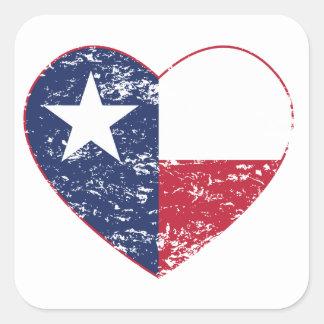 Texas Flag Heart Distressed Sticker