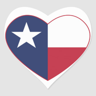Texas Flag Heart Stickers