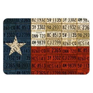 Texas Flag License Plate Art Lone Star State Rectangular Photo Magnet