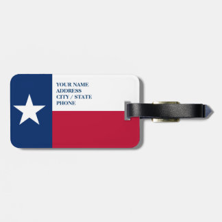 Texas flag luggage tags for bags and suitcases