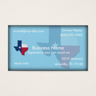 Texas Flag-Map Business Card