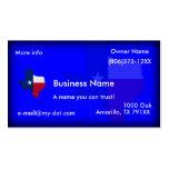 Texas Flag-Map Business Cards
