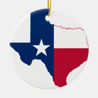 Texas flag map christmas ornament