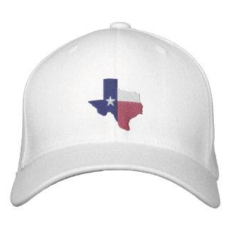 Texas Flag Map Embroidered Baseball Caps