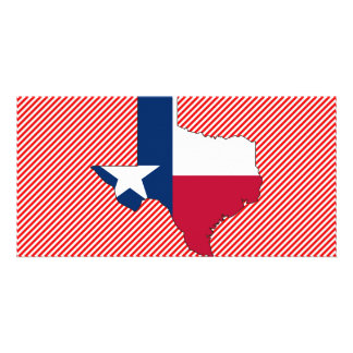 Texas Flag Map Picture Card
