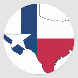 Texas Flag Map Stickers