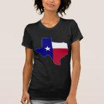 Texas Flag Map Tee Shirts