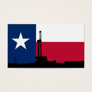 Texas Flag Oil Drilling Rig