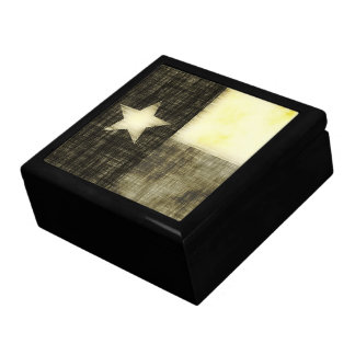 TEXAS FLAG OLD DRAWING LARGE SQUARE GIFT BOX