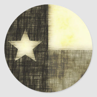 TEXAS FLAG OLD DRAWING STICKER