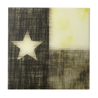 TEXAS FLAG OLD DRAWING TILE