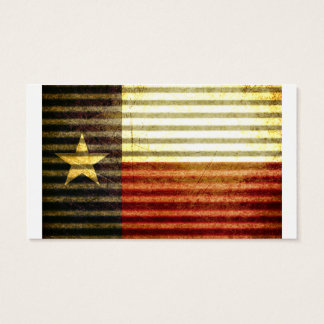Texas Flag Old Tin Roof gear Business Card