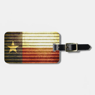 Texas Flag Old Tin Roof gear Luggage Tag
