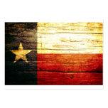 Texas Flag Old Wood Business Card