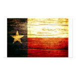 Texas Flag Old Wood Pack Of Standard Business Cards