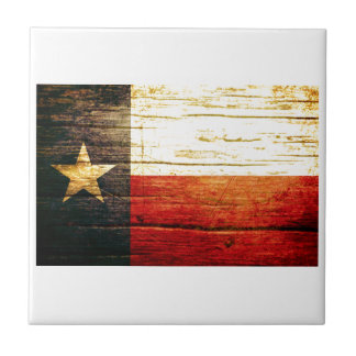 Texas Flag Old Wood Tile