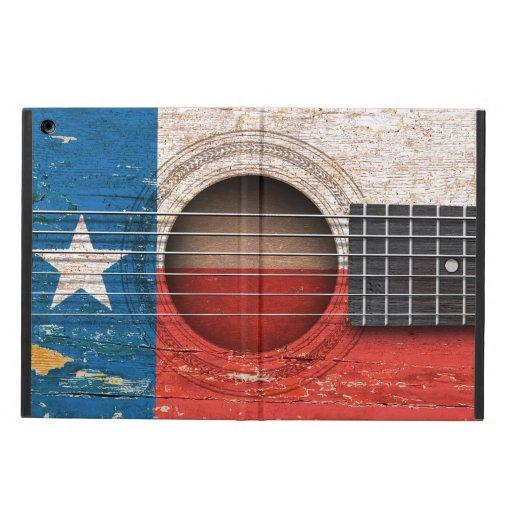 Texas Flag on Old Acoustic Guitar iPad Air Cases