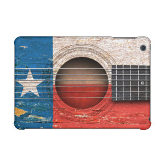 Texas Flag on Old Acoustic Guitar iPad Mini Cover