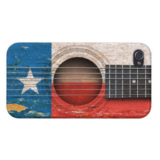 Texas Flag on Old Acoustic Guitar Covers For iPhone 4