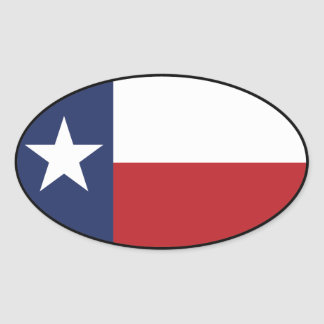 Texas Flag Oval Sticker