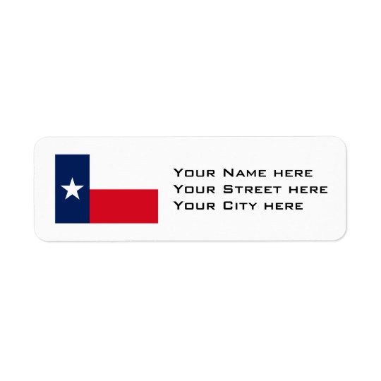 TEXAS Flag Pattern Return Address Label