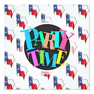 Texas Flag Pattern; Texan 13 Cm X 13 Cm Square Invitation Card