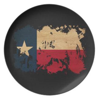Texas Flag Plates