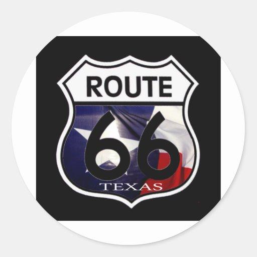 Texas Flag Route 66 Shield Sticker
