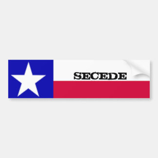 Texas Flag Secede Sticker